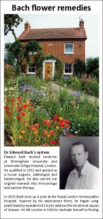 Bach Flower Remedies Leaflet