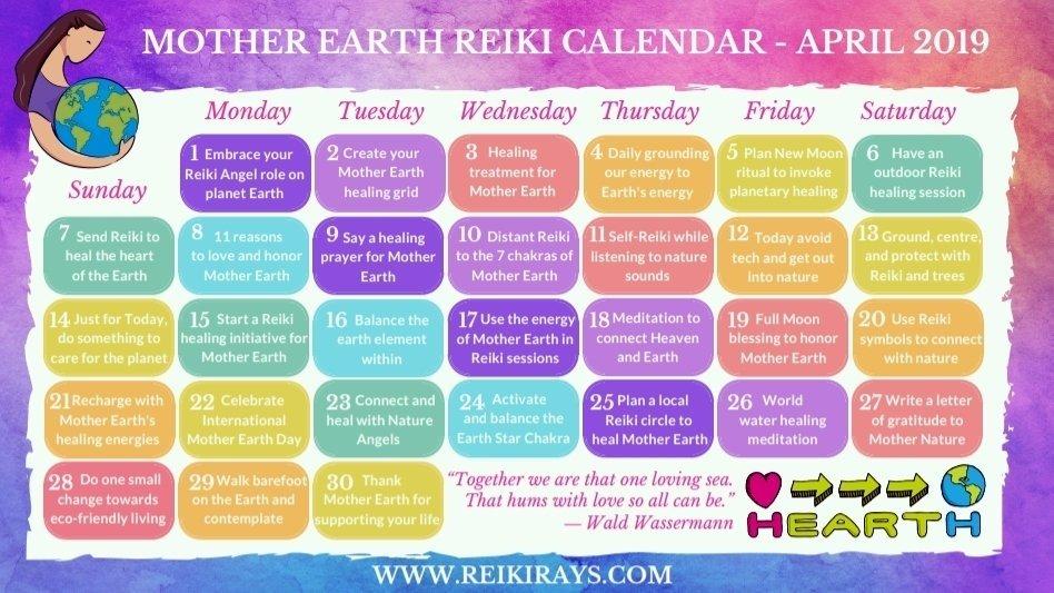 Mother Earth Reiki Calendar April
