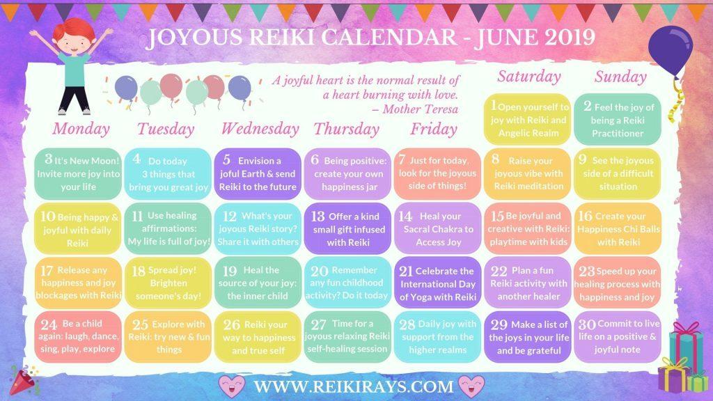Reiki Calendar June
