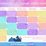 Reiki Calendar - September 2019