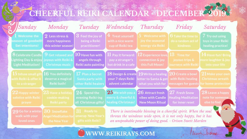 Reiki Calendar - December