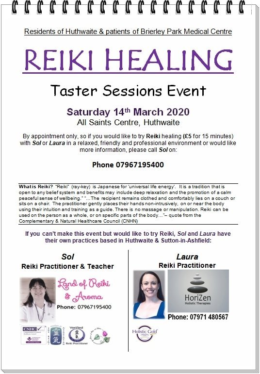Reiki Taster Session March 14th